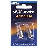 Dorcy 41-1663 6V/4D - 4.8V 0.75A Bayonet Base Krypton Replacement Bulb, 2-Pack