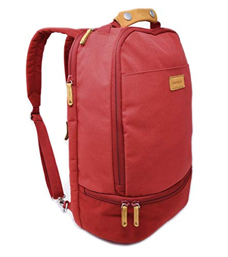 Amber & Ash Everyday Backpack - Laptop Bag for School, College, and Work - Water Resistant Travel Backpack for Women and Men with Luggage Sleeve - Fits 15.6 Inch Laptop [Lipstick Red]
