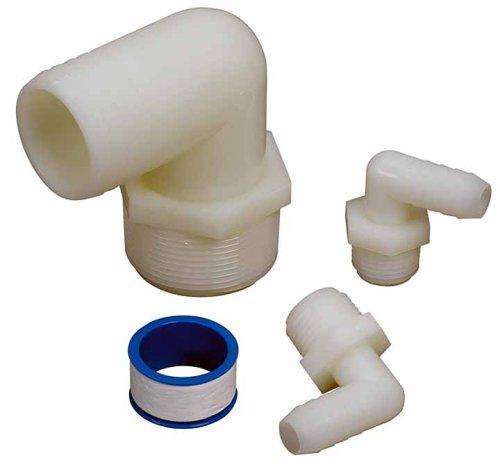 Moeller Marine Products 040390 90-Degree Pipe to Hose Moeller Marine Water Tank Adaper Kit