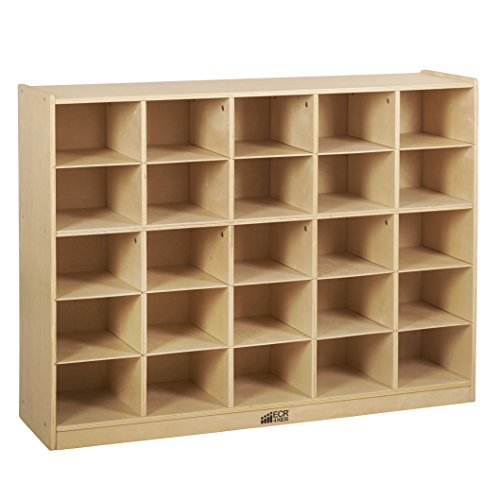 ECR4Kids Birch 25 Cubbie Tray Cabinet