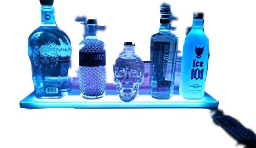 - Sparik Enjoy Home Bar Lighting - 2 Ft LED Lighted Liquor Remote Control Bottle Display Shelf