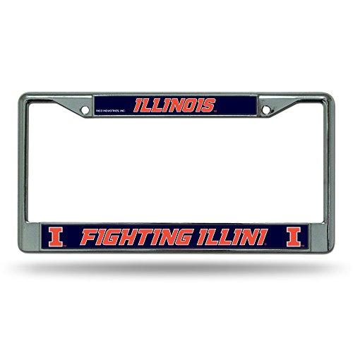 Rico Illinois Illini Chrome Frame, ( 094746036836 )