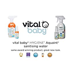 vital baby AQUAINT® sanitising water 500ml Kills 99.99% of Germs Baby essentials for newborn, No Alcohol Anti Bacterial…