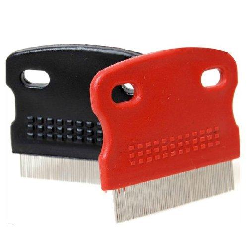 Tfxwerws pour animal domestique denté Flea Ovum Remover Toilettage Peigne de nettoyage en acier Cheveux