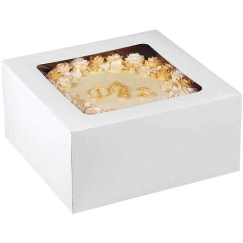 Wilton 12-Inch Cake Box with Window for 10-Inch Cake, 2-Piece -