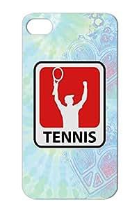 Dirtproof TPU Tennis Ball Tennis Player Sports Black For Iphone 4s Case