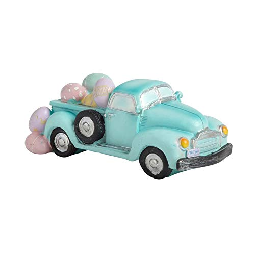 7-Inch Blue Northeast Home Goods Pastel Eggs in Truck Easter Decor