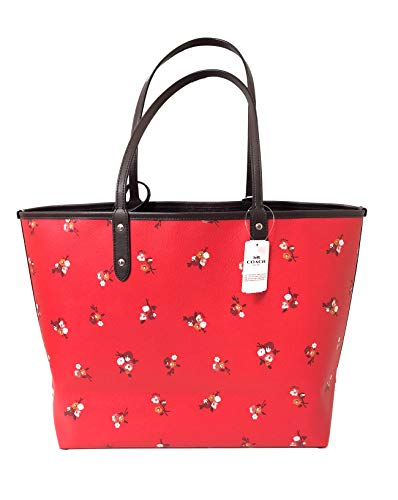 PVC Reversible Bright Tote Sv City F36609 Red Multi Signature Coach wqZnPEpn