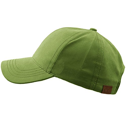 CC Everyday Unisex Light Plain Blank Baseball Sun Visor Solid Cap Dad Hat Lt. Olive