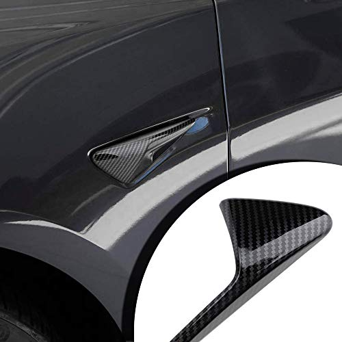 Mixsuper Autopilot 2.0 Carbon Fiber Look Side Markers Turn Signal Covers for Tesla Model 3 S X