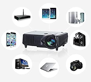 Visiontek full hd led 3d ready projector 2000 lumens for Hd projector amazon