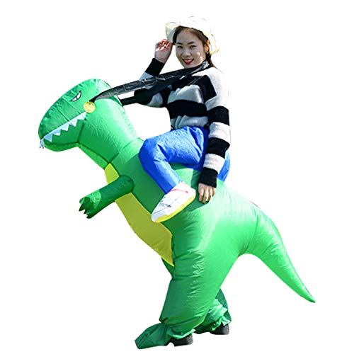 Male Halloween Costumes Do It Yourself (YIHONG Halloween Inflatable Dinosaur T-REX Costume - Blow Up Costumes for Adults)