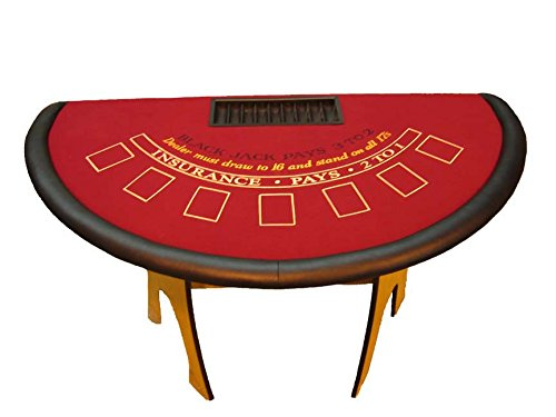 60 Inch Oak Blackjack Table - Made in the USA by ACEM Casino supplies