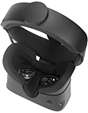 Silcone VR Face Cover Mask for Oculus Rift S Face Pad Cushion Cover Sweatproof Waterproof Lightproof (Black)