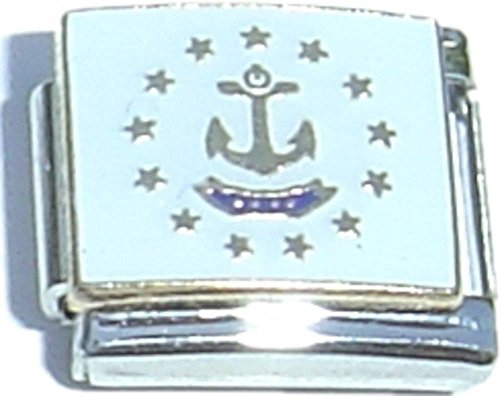 (Rhode Island State Flag Italian Charm)