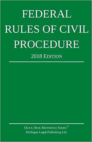 Book Federal Rules of Civil Procedure; 2018 Edition: With Statutory Supplement