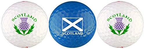 EnjoyLife Inc Scotland Flag w/Thistle Golf Ball Gift Set