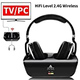 Wireless TV Headphones, Artiste ADH300 2.4GHz Digital Over-Ear Stereo Headphone for TV 100ft