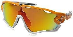 Oakley Men's Jawbreaker Oo9290-09 Shield Sunglasses, Atomic Orange, 131 Mm