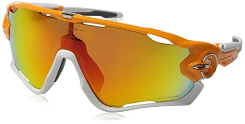 Oakley Men's Jawbreaker OO9290-09 Shield Sunglasses, Atomic Orange, 131 - Oakley Sunglasses New