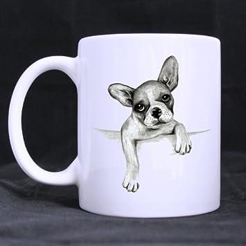 Amazonde Tasse Für U Französische Bulldogge Zeichnen Custom Weiße