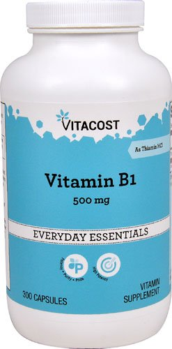 Vitacost Vitamin B-1 -- 500 mg - 300 Capsules - 3PC by Vitacost Brand