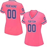 Custom Women s Pink Mesh Football Game Jersey Embroidered Team Name and Your  Numbers 1605adf27