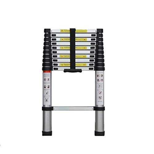 Teekland Telescopic Ladder with Joint Portable Fold Extension Aluminum Alloy 150kg(≈330lb)8.5ft/10.5ft/12.5ft /6.2ft + 6.2ft / 8.2ft + 8.2ft