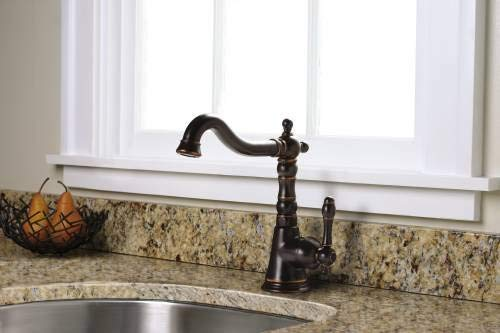 Premier 110703 Charlestown Bar Faucet With Single Handle, Parisian Bronze, Lead Free