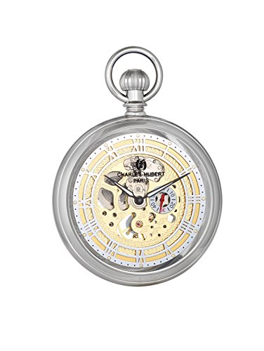 Charles-Hubert, Paris 'Classic Collection' Mechanical Hand Wind Brass Pocket Watch (Model: DWA018) by Charles-Hubert, Paris