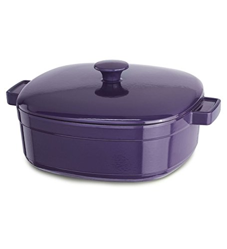 Dish Plum Casserole - KitchenAid KCLI40CRPZ Streamline Cast Iron 4-Quart Casserole Cookware - Plum Zen