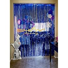 Foil Fringe-Curtain-3FTX8FT-Royal-Blue Hanging Backdrop Blue Photo Booth Curtain Wedding/Birthday Christmas Decorations