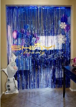 Foil Fringe Curtain 3FTX8FT Royal Blue Blue Curtain Decorations