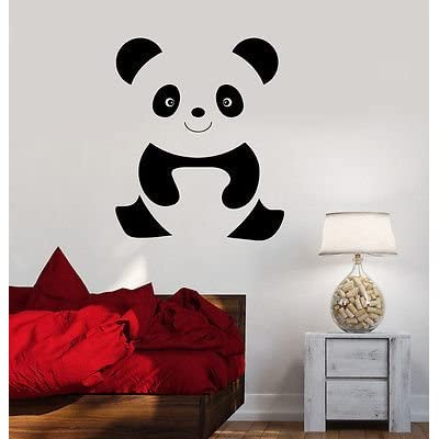 V-studios Wall Decal Animal Cheerful Baby Panda Cartoon Kids Room Vinyl Stickers VS444: Home & Kitchen