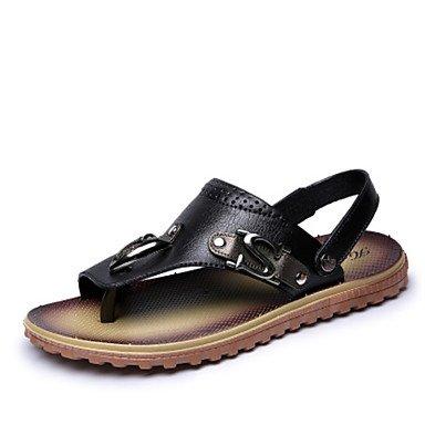 SHOES-XJIH&Uomini mocassini & Slip-Ons molla rientrano la comodità di vacchetta Casual tacco piatto cucitura marrone chiaro blu scuro a piedi nero,marrone chiaro,US8 / EU40 / UK7 / CN41