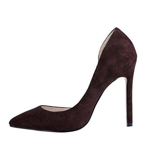 EKS - Zapatos de Tacón Mujer Marrón - Braun-Wildleder