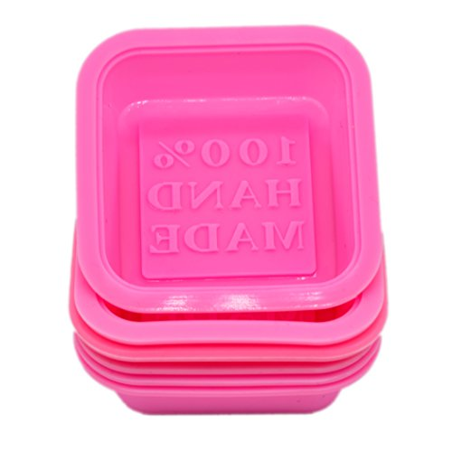 One Mold - soap mold (Squa (6-Pack) Soap Molds-100% Handmade Square Silicon