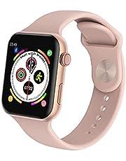 ساعة ذكية K90 شاشة كاملة تعمل باللمس - رسائل ومكالمات - متوافق مع نظامي Android و iOS لون ذهبي