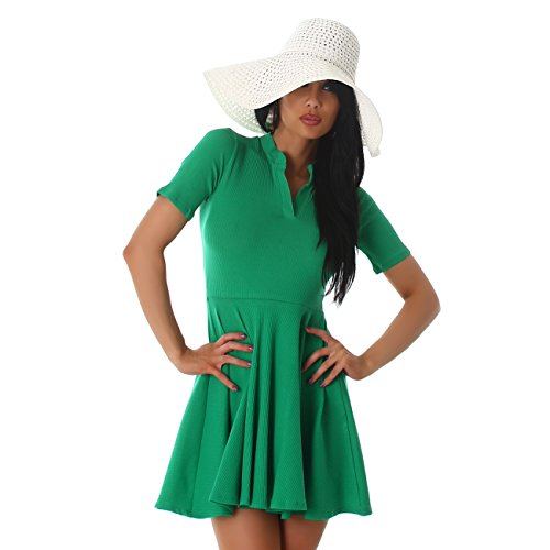 Voyelles - Vestido - Manga Larga - Manga corta - para mujer Verde