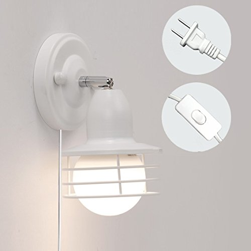 STGLIGHTING 1-Light Iron Cage Lighting Sconces Minimalist for sale  Delivered anywhere in USA