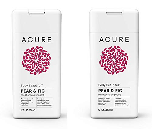 - ACURE Body Beautiful Shampoo-Conditioner SET-BUNDLE, Pear & Fig, 12 Fl. Oz. EACH (Packaging May Vary)