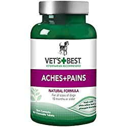 Vet's Best Aches + Pains Dog Supplements, 50 Chewable Tablets, USA Made
