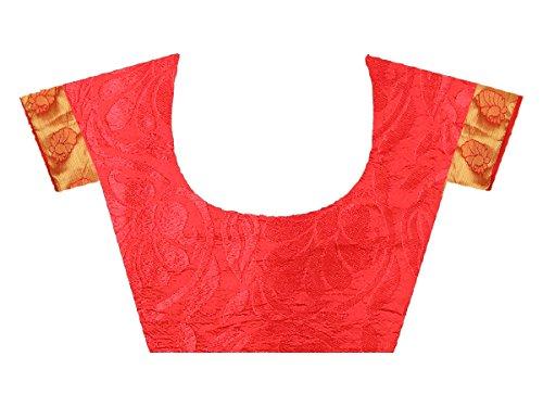 Tradizionale Partywear Camicia Con Rosso Verde Creazioni Sari Progettista Scucito Indiano Pakistano Mohit F5tZ4qF