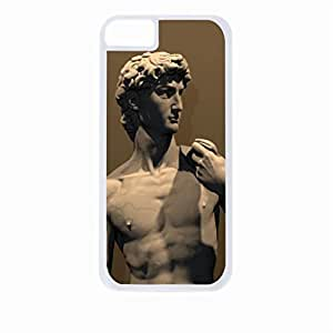 Michelangelo's David - Hard White Plastic Snap - On Case with Soft Black Rubber Lining-Apple Iphone 5 - 5s - Great Quality!
