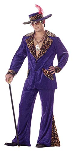 California Costumes Men's Pimp Red Big Daddy 20s Gangster M Red