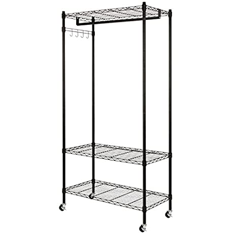 Homegear Wire Garment Rack / Cupboard Closet Shelving Unit