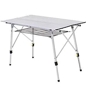 Outsunny Mesa Plegable de Picnic Mesa de Camping de Aluminio ...