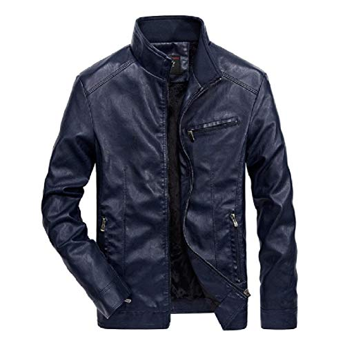Jackets Casual EnergyMen 4 Leather Leather Biker Faux Solid Motorcycle Leisure Faux zPwdPZ