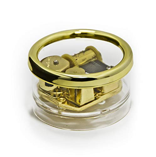 Round 18 Note Clear Acrylic Musical Paperweight with Gold Rim - Over 400 Song Choices - Lord's Prayer. The (Albert Hay Malotte)