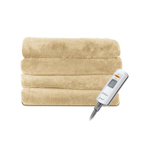 """Sunbeam Velvet Plush Heated Throw Blanket 60"""" x 50"""""""